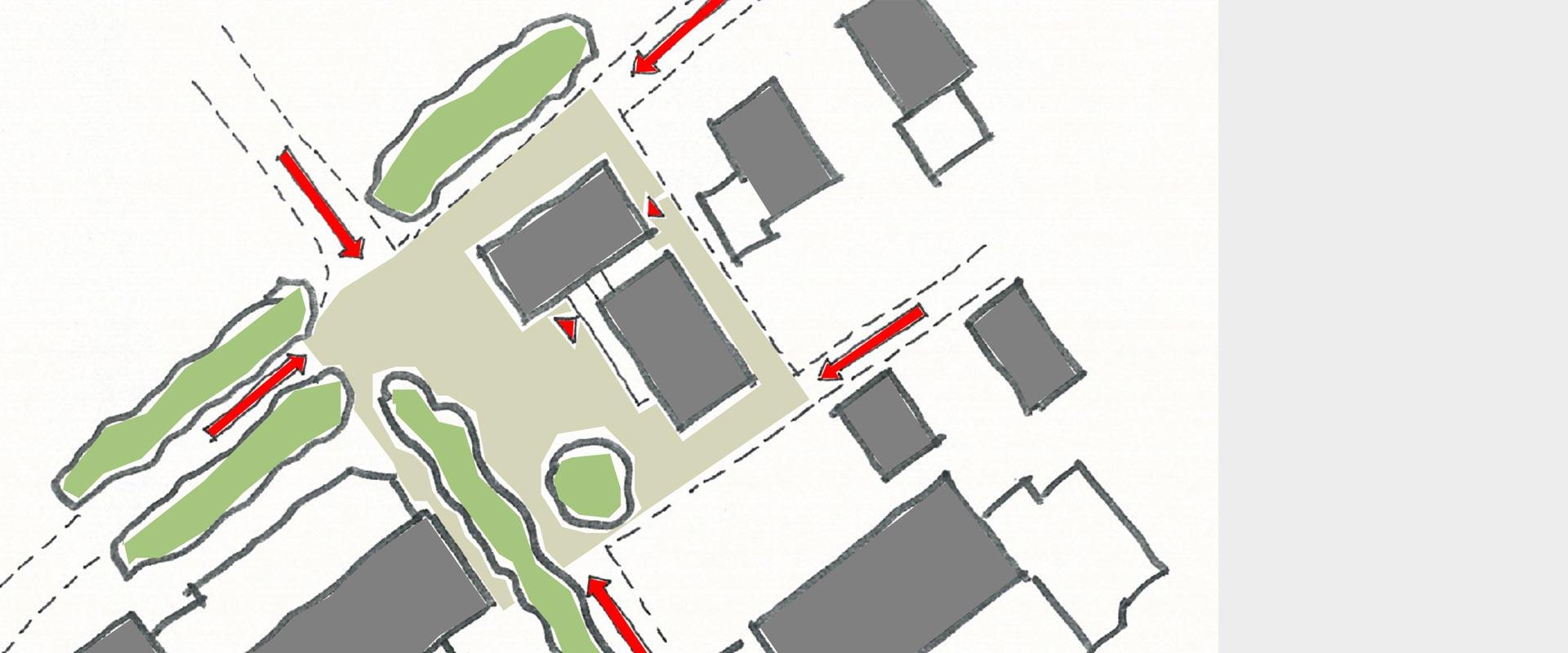 Architekturbüro Musahl Rathaus Dogern Laufwege