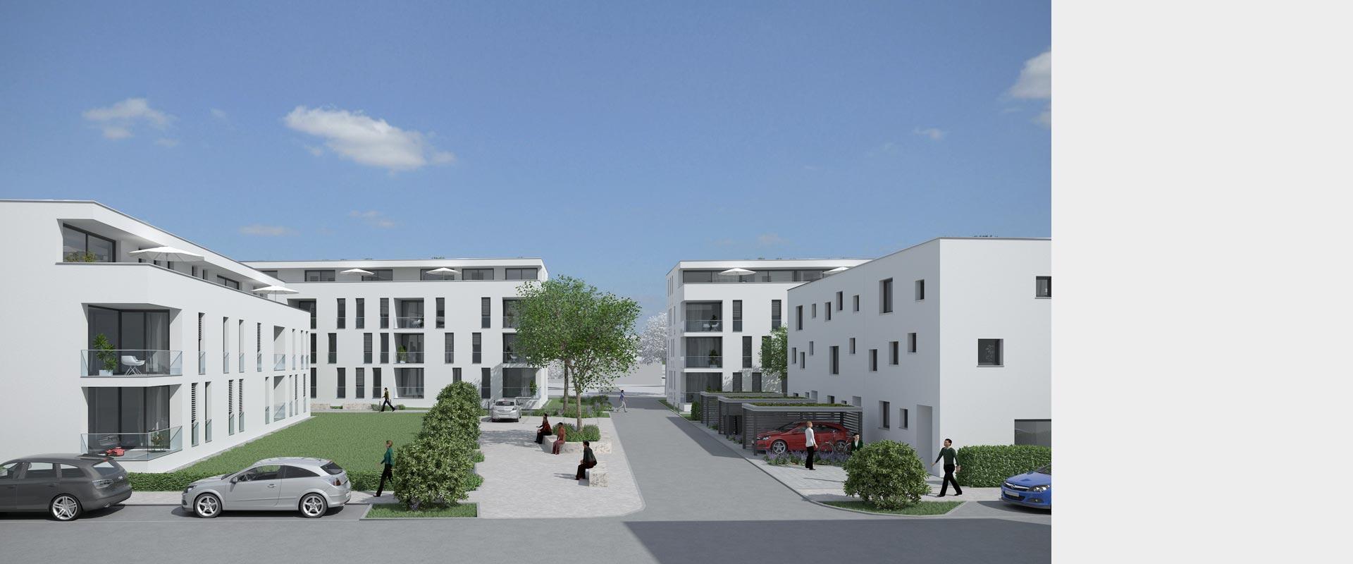 Architekturbüro Musahl Waldshut Wohnanlage Riedpark in Lauchringen 3D