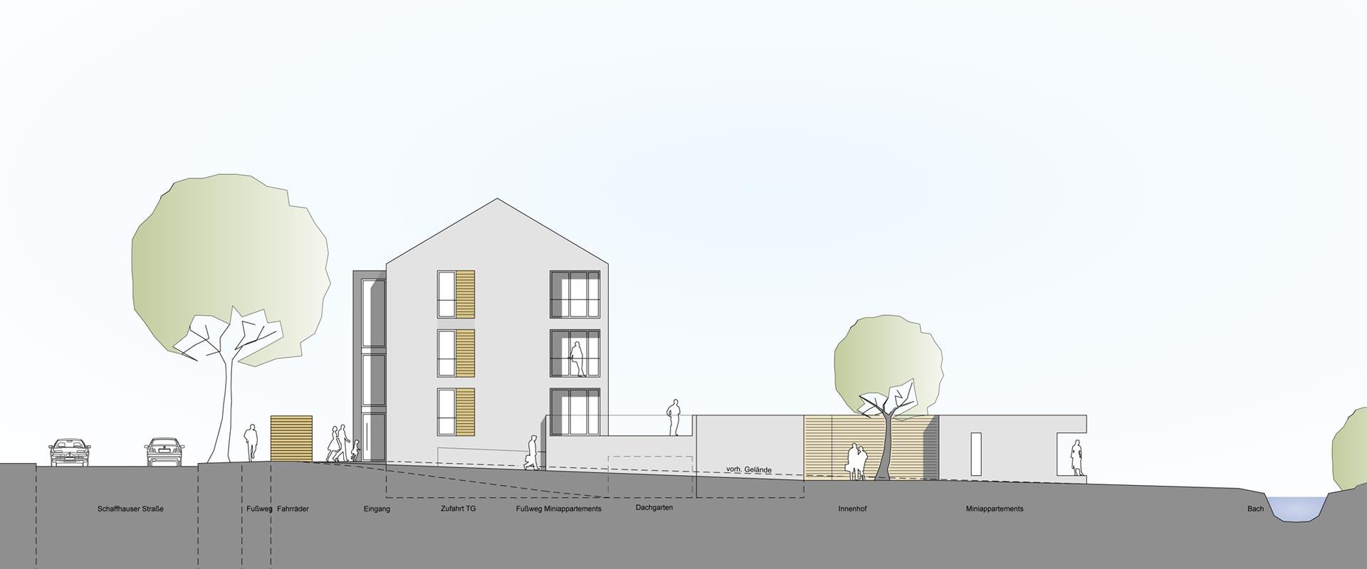 Architekturbüro Musahl Waldshut Wohnanlage Schaffhauser Straße in Tiengen Ansicht