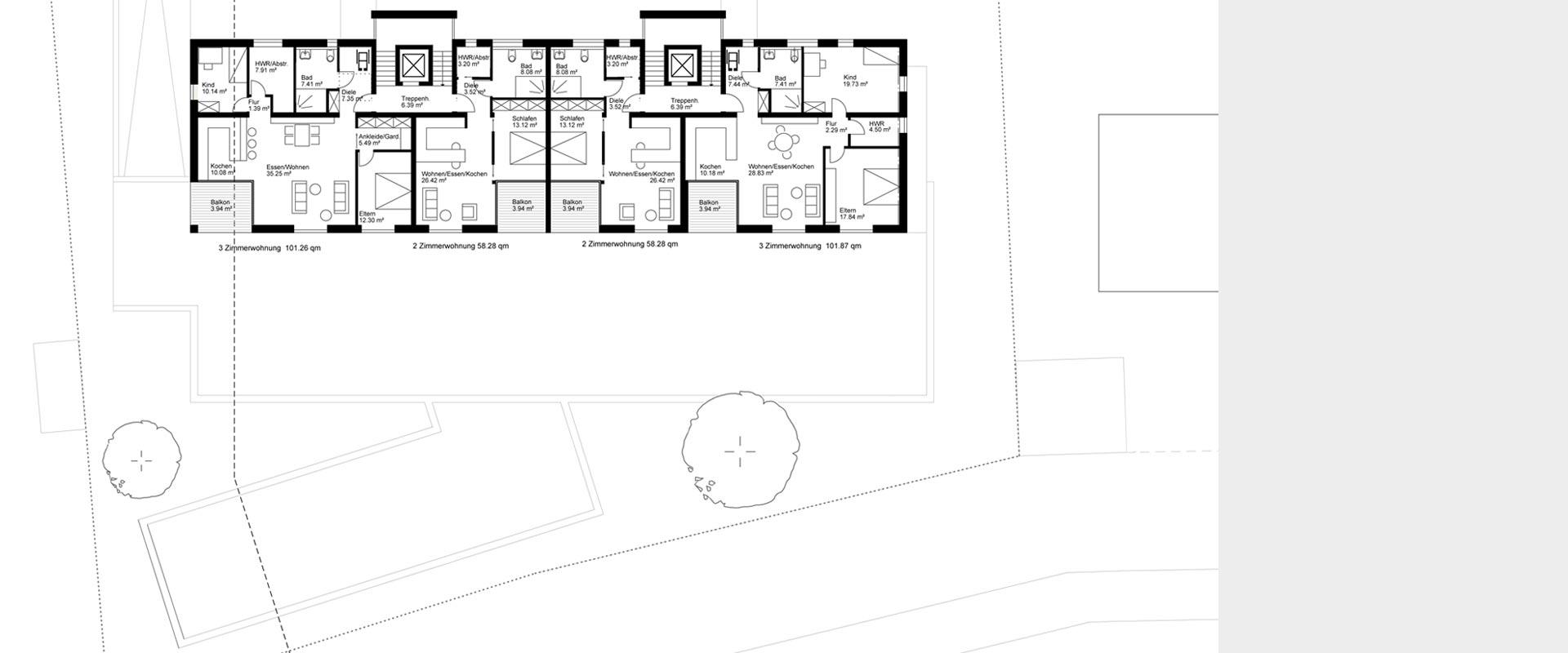 Architekturbüro Musahl Waldshut Wohnanlage Schaffhauser Straße in Tiengen DG