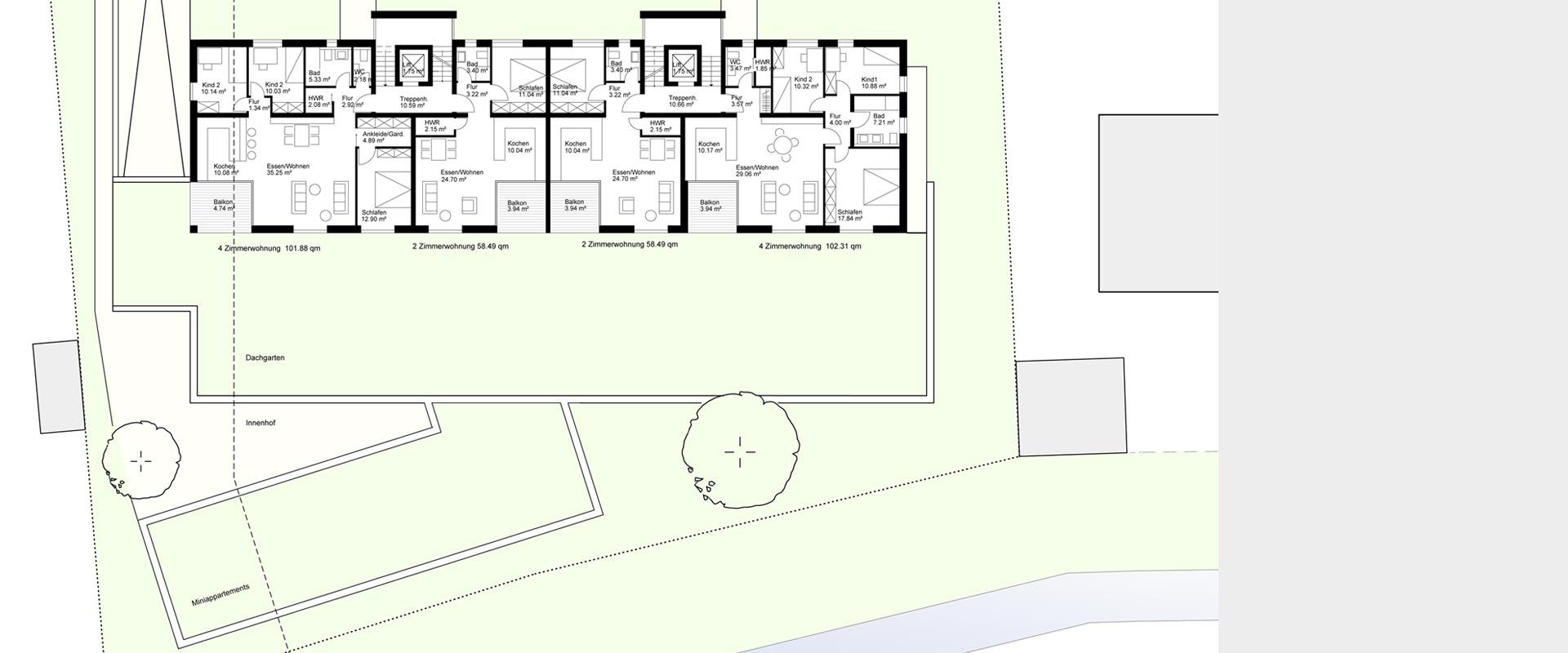 Architekturbüro Musahl Waldshut Wohnanlage Schaffhauser Straße in Tiengen OG