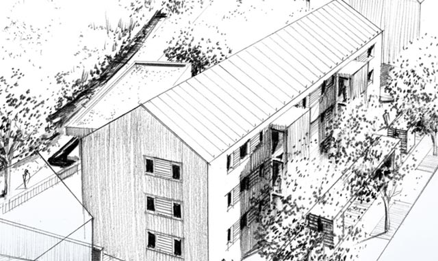 Architekturbüro Musahl Waldshut Wohnanlage Schaffhauser Straße in Tiengen thumb