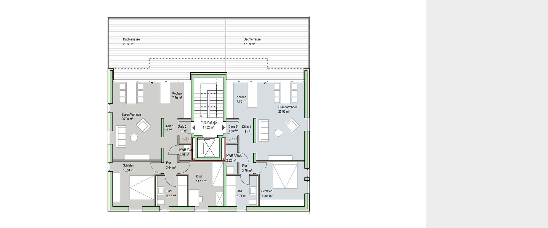 Architekturbüro Musahl Waldshut Wohnanlage Neunschwanz in Kadelburg DG