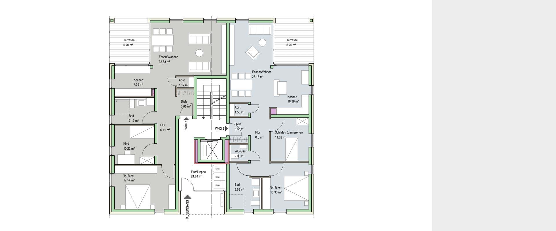 Architekturbüro Musahl Waldshut Wohnanlage Neunschwanz in Kadelburg EG